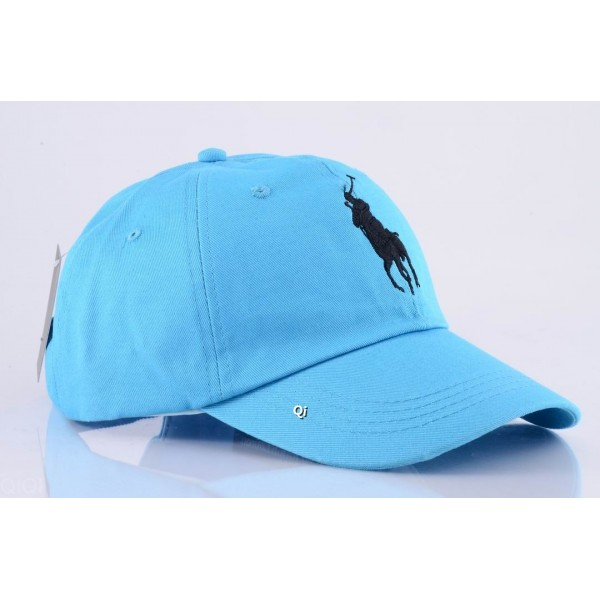 Polo Ralph Lauren Caps Washed Black Baby Blue