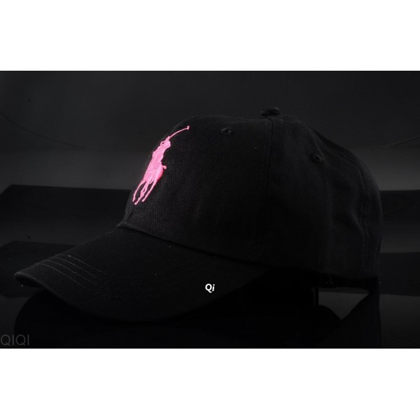 Polo Ralph Lauren Caps Washed Pink Logo Black
