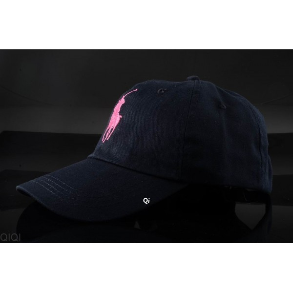Polo Ralph Lauren Caps Washed Pink Pony Blue