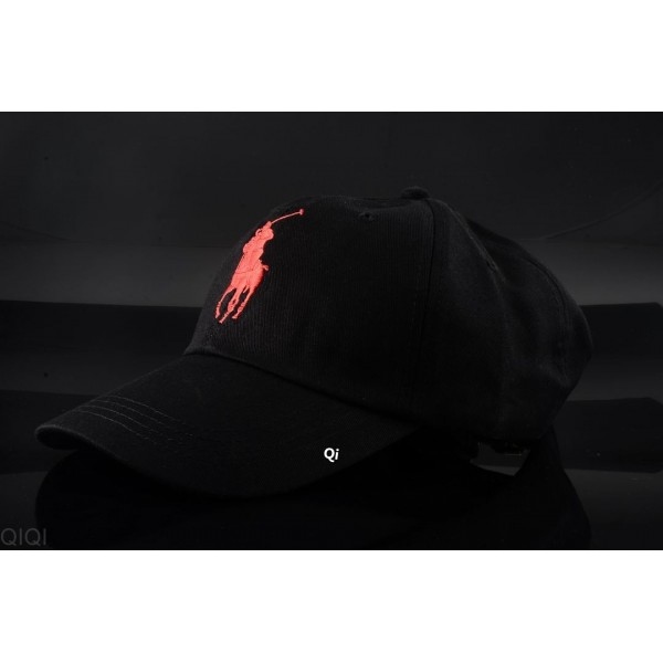 Polo Ralph Lauren Caps Washed Red Logo Black