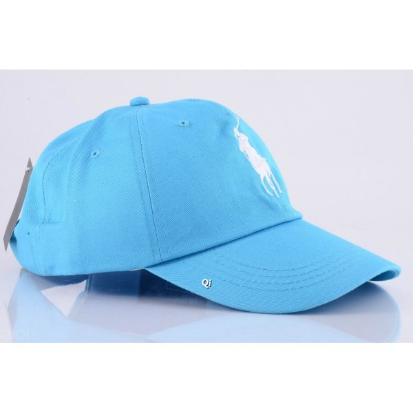 Polo Ralph Lauren Caps Washed White Baby Blue