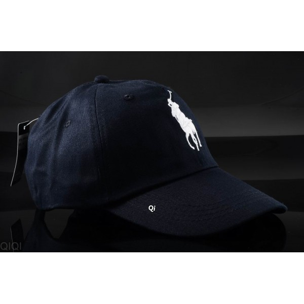 Polo Ralph Lauren Caps Washed White Pony Blue