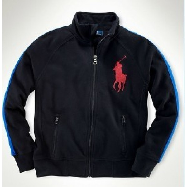 Chicago Polo Ralph Lauren Full Zip Track Mens Jackets & Outwear In Black