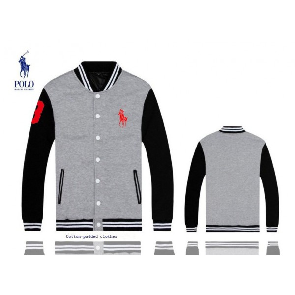 Classic Fit Polo Ralph Lauren Big Pony 3 Jackets & Outwear Grey For Men