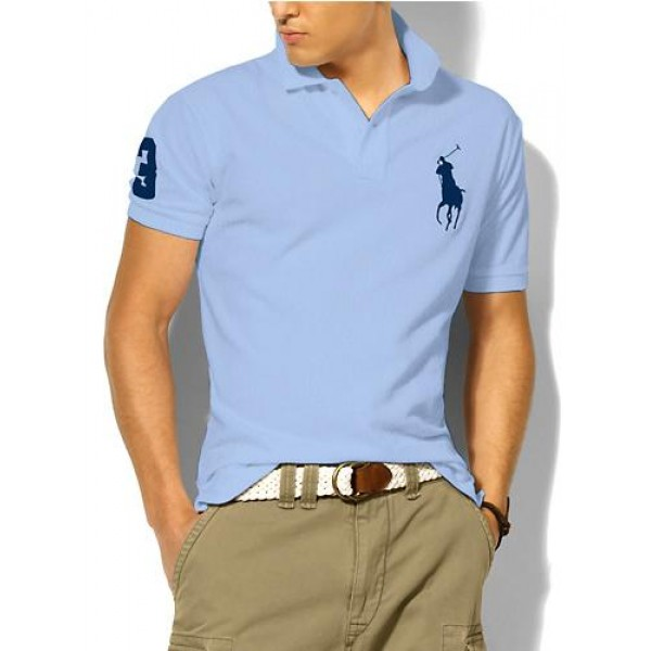 Polo Ralph Lauren Mens Polos Big Pony Blue Light Blue