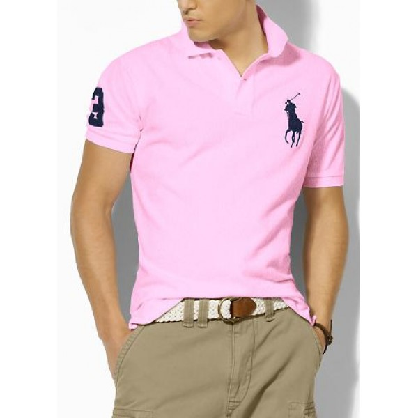 Polo Ralph Lauren Mens Polos Big Pony Blue Pink