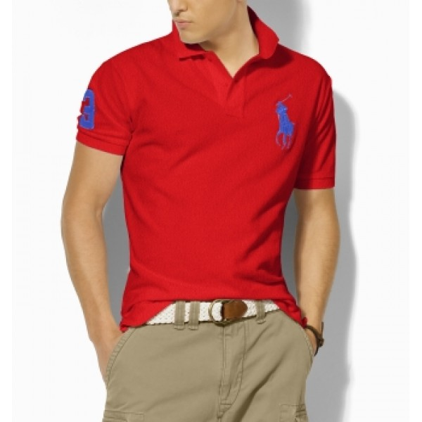 Polo Ralph Lauren Mens Polos Big Pony Blue Red