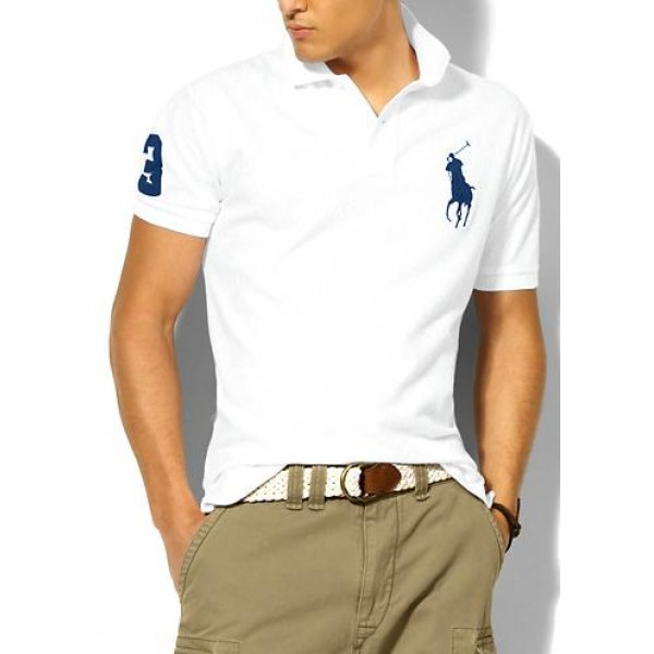 Polo Ralph Lauren Mens Polos Big Pony Blue White