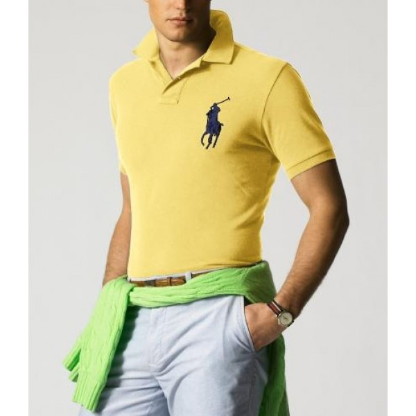 Polo Ralph Lauren Mens Polos Big Pony Blue Yellow