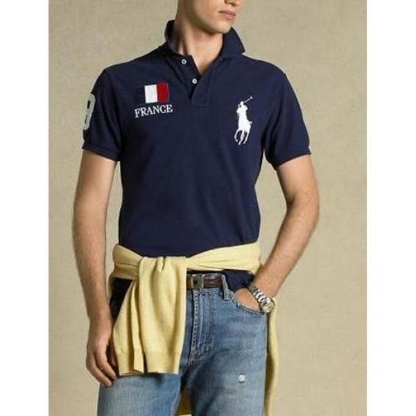 Polo Ralph Lauren Mens Polos Big Pony France Blue
