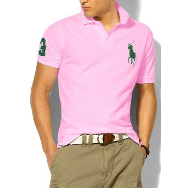 Polo Ralph Lauren Mens Polos Big Pony Green Pink