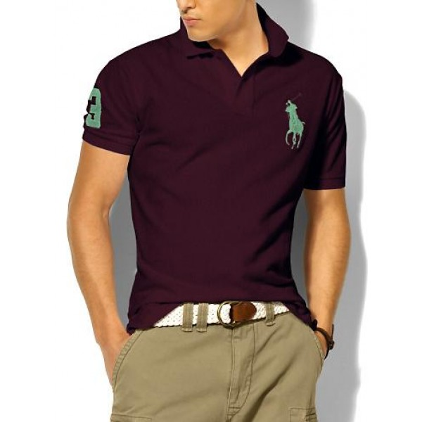 Polo Ralph Lauren Mens Polos Big Pony Green Wine
