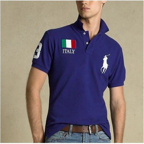 Polo Ralph Lauren Mens Polos Big Pony Italy Blue