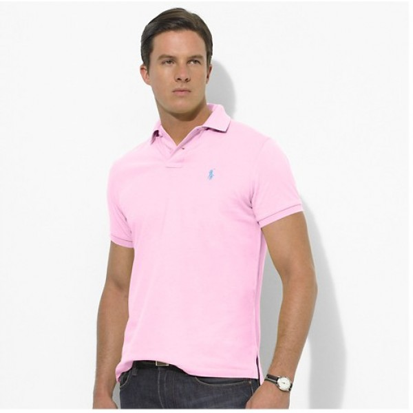 Polo Ralph Lauren Mens Polos Small Pony Pink