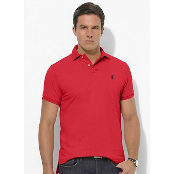 Ralph Lauren Polo Mens Polos Small Pony Red Black