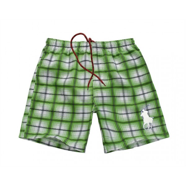 Polo Ralph Lauren Mens Beach Madras Swim Trunk Green