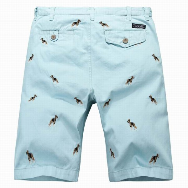 Polo Ralph Lauren Mens Embroidered Shorts Blue Dog