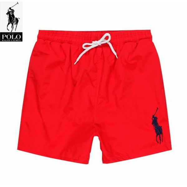 Polo Ralph Lauren Mens Lace Shorts Big Pony Red