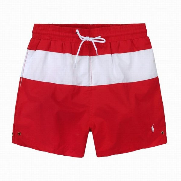 Polo Ralph Lauren Mens Mid Stripe Swim Shorts Red