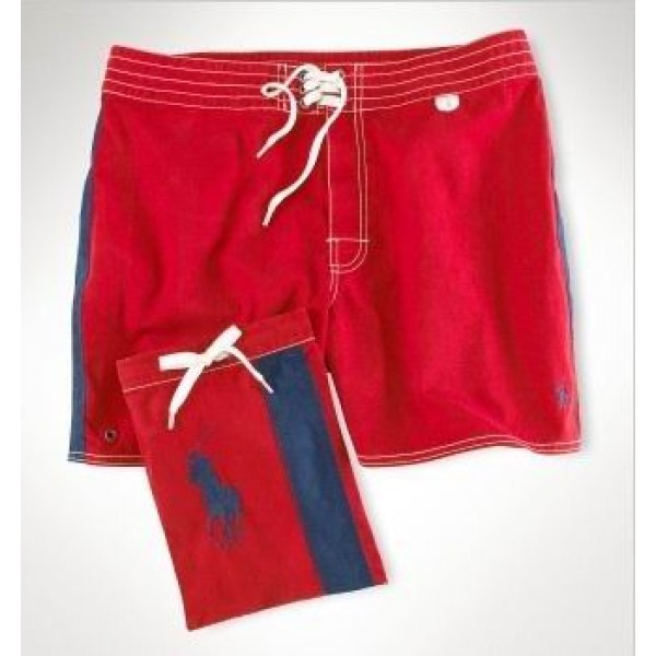 Polo Ralph Lauren Mens Polo Shorts Lace Red
