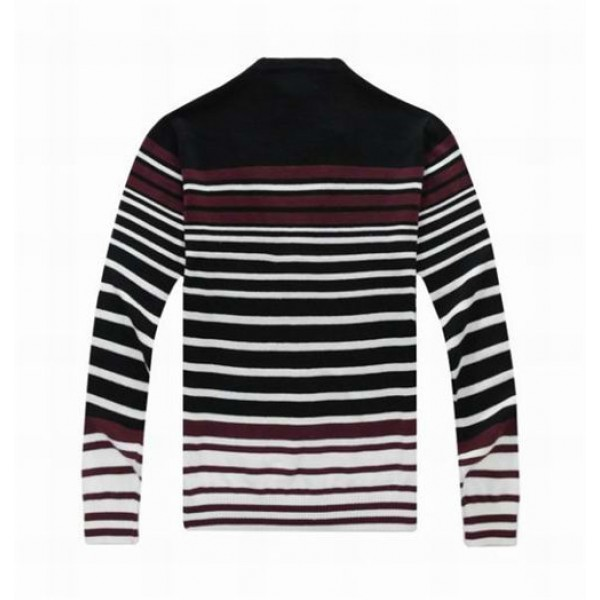 Polo Deep V Neck Striped Sweater 02