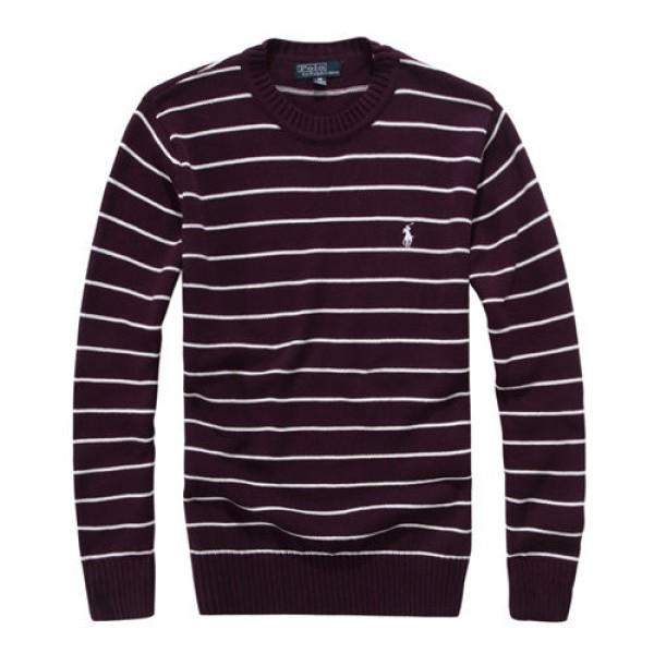 Polo Ralph Lauren Mens Sweaters Round Neck 02 Red Wine