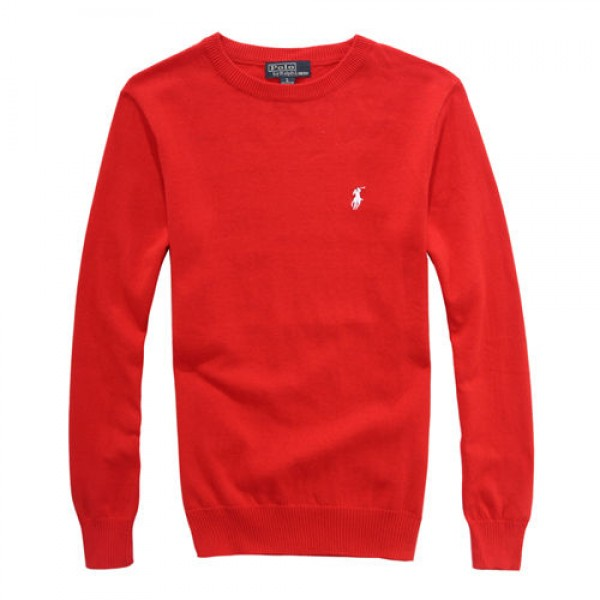 Polo Ralph Lauren Mens Sweaters Round Neck 03 Red
