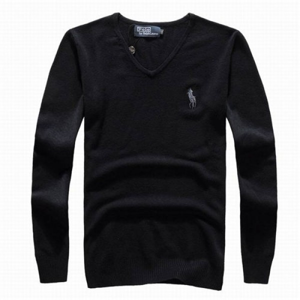 Polo Ralph Lauren Mens Sweaters Solid Black