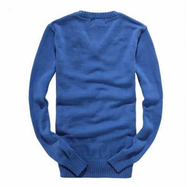 Polo Ralph Lauren Mens Sweaters Solid Giant Check Blue