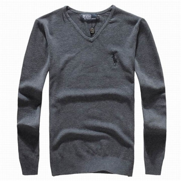 Polo Ralph Lauren Mens Sweaters Solid Grey