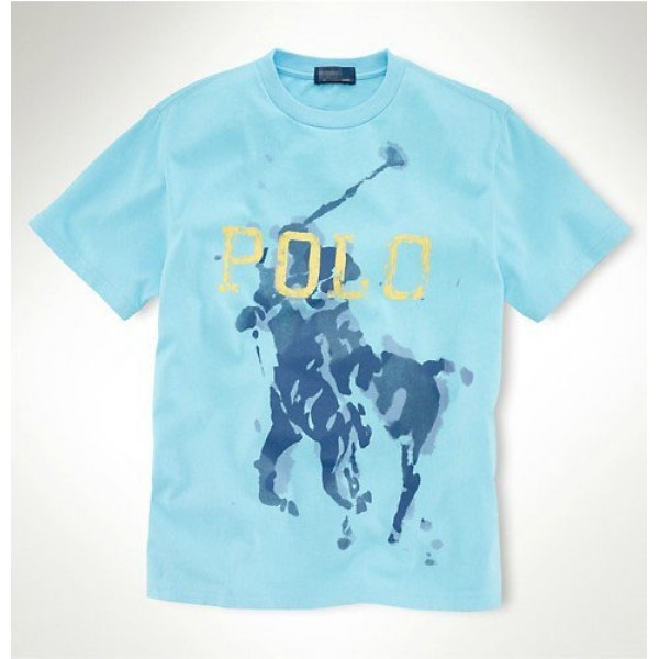 Men's Ralph Lauren T Shirts Big Babyblue