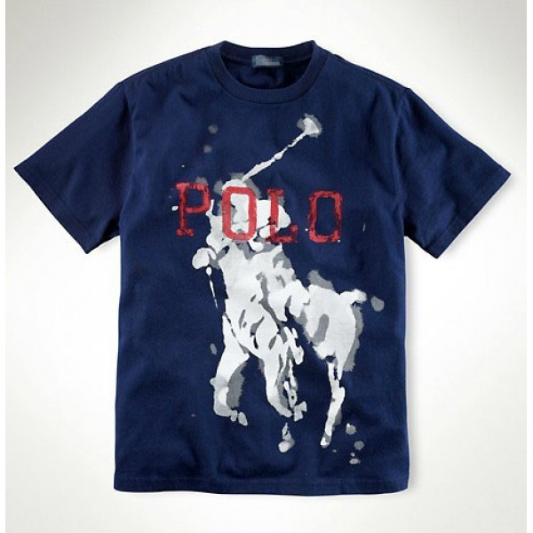 Men's Ralph Lauren T Shirts Big Blue
