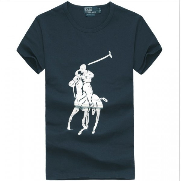 Men's Ralph Lauren T Shirts Big Pony Blue