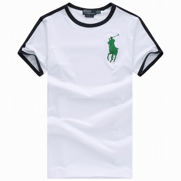 Men's Ralph Lauren T Shirts Polo Big Pony White
