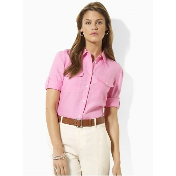 Polo Ralph Lauren Women Shirts Clayton Pink