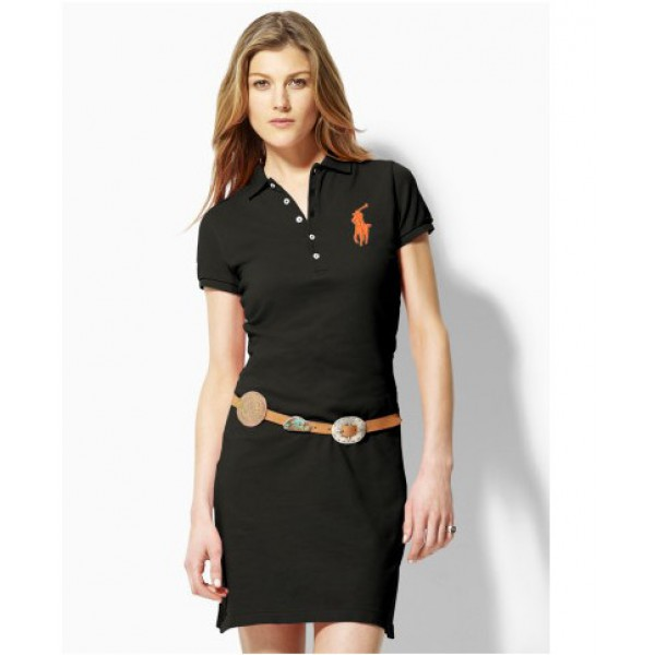 Polo Ralph Lauren Women Dresses Orange Black