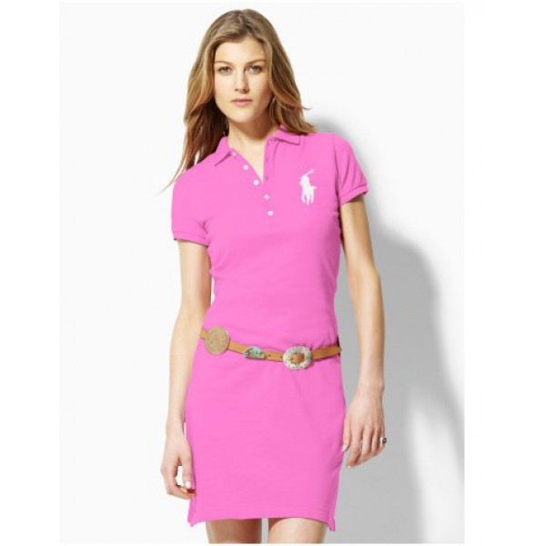 Polo Ralph Lauren Women Dresses White Pink
