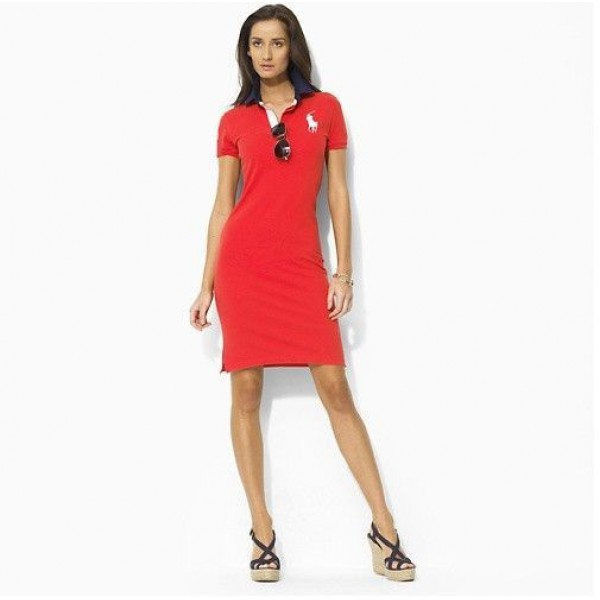 Polo Ralph Lauren Women Long Dresses Red
