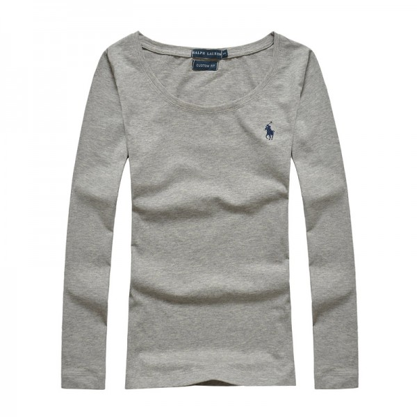 Polo Ralph Lauren Womens Polo Long Small Pony Grey