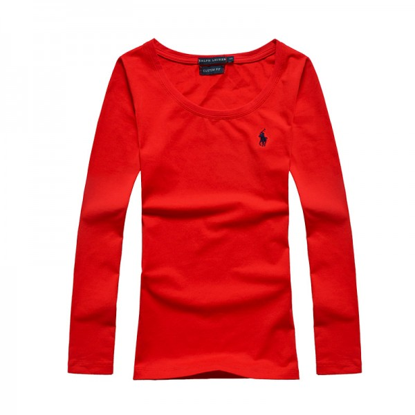 Polo Ralph Lauren Womens Polo Long Small Pony Red