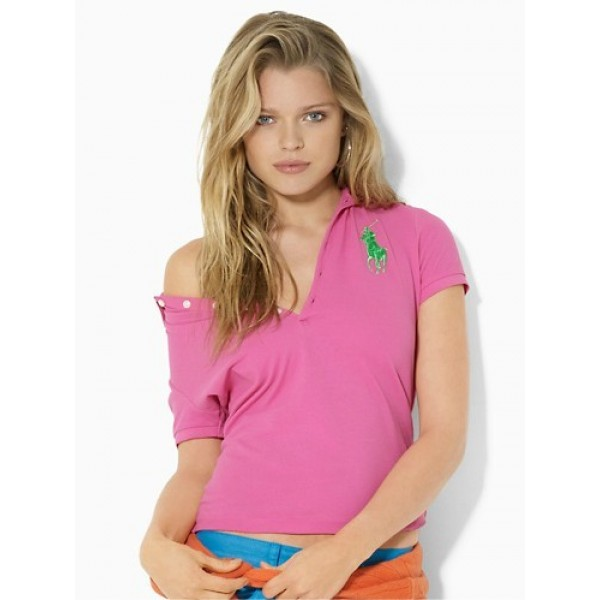 Polo Ralph Lauren Women Polos Big Pony Fragrance Pink