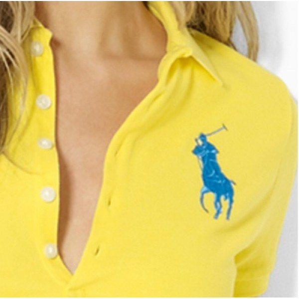 Polo Ralph Lauren Women Polos Big Pony Fragrance Yellow