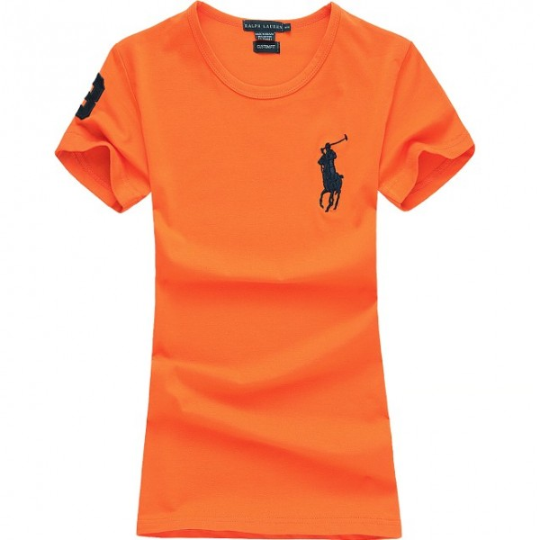 Polo Ralph Lauren Womens Big Pony T shirt Orange
