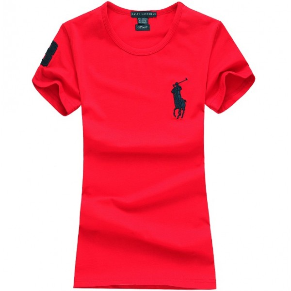 Polo Ralph Lauren Womens Big Pony T shirt Red