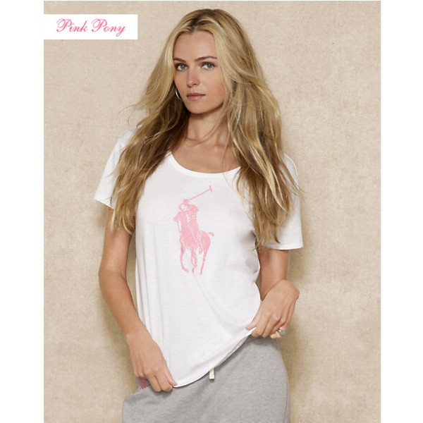 Polo Ralph Lauren Womens Big Pony T shirts White