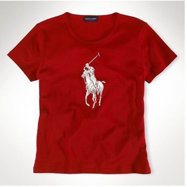 Polo Ralph Lauren Womens Printing silver Pony Red