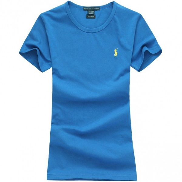 Polo Ralph Lauren Womens Small Pony Logo Polo Sky Blue